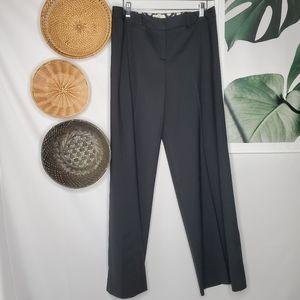 Milly Black Wool Silk Career Slacks Trousers Pants